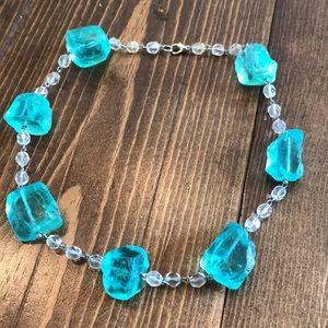 Chunky beach glass necklace